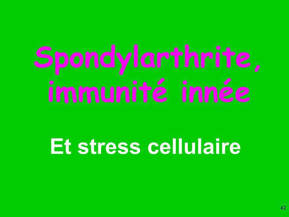 Spondylarthrite, immunité innée