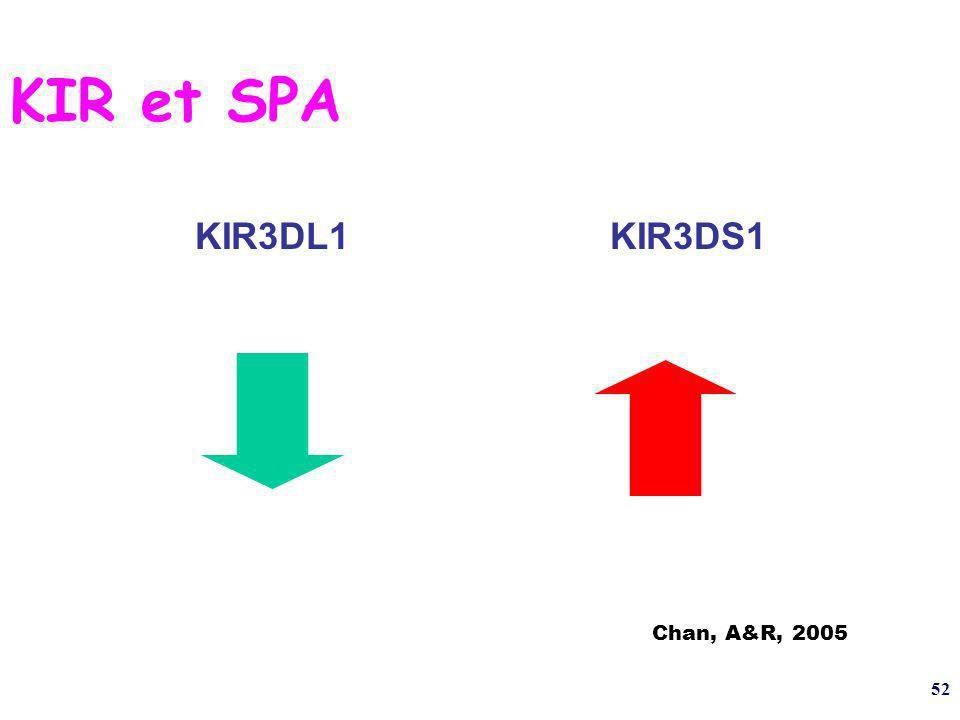 KIR et SPA KIR3DL1 KIR3DS1 Chan, A&R, 2005