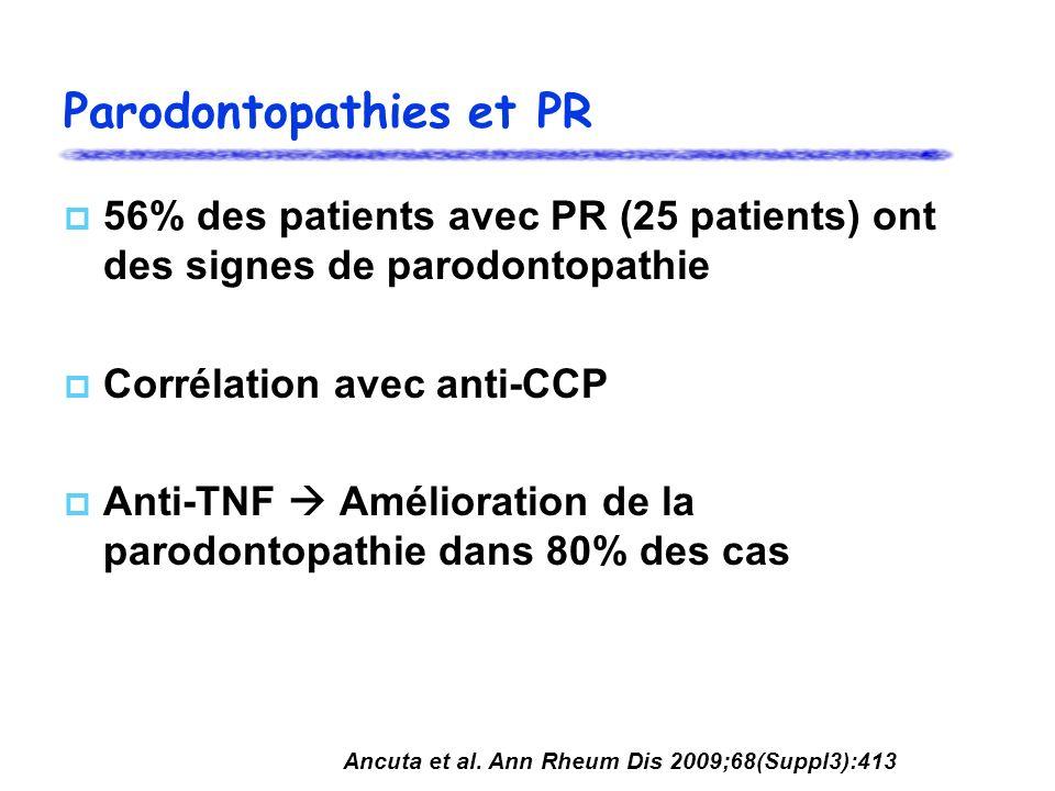 Parodontopathies et PR