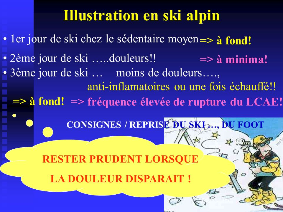 Illustration en ski alpin