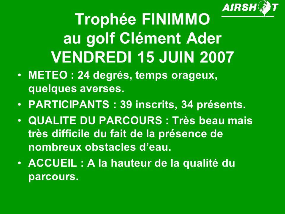 Trophée FINIMMO au golf Clément Ader VENDREDI 15 JUIN 2007