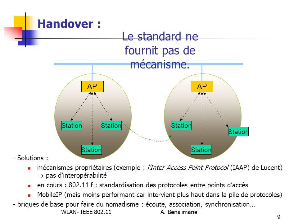 Le standard ne fournit pas de mécanisme.