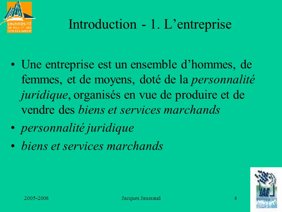 Introduction - 1. L'entreprise