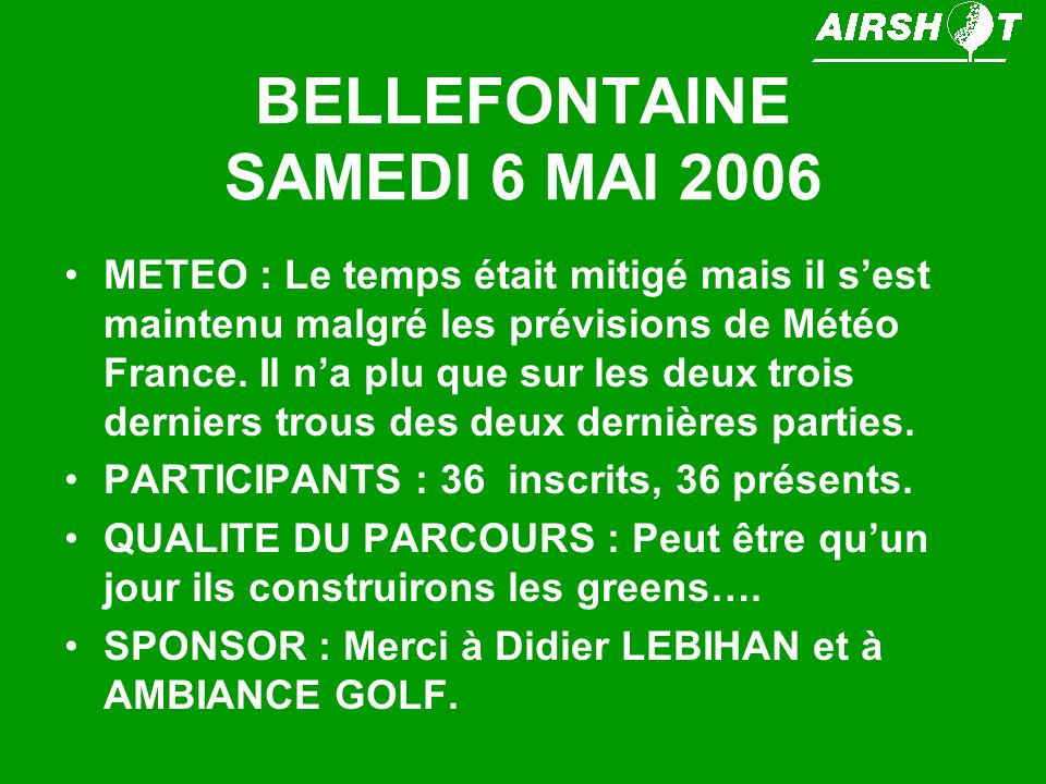 BELLEFONTAINE SAMEDI 6 MAI 2006
