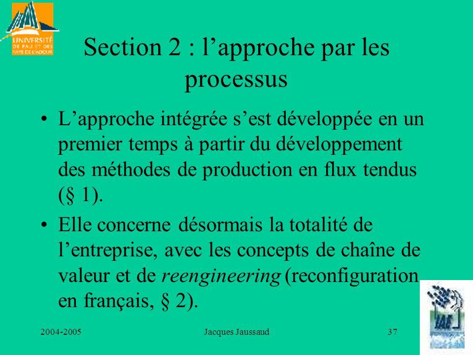 Section 2 : l'approche par les processus