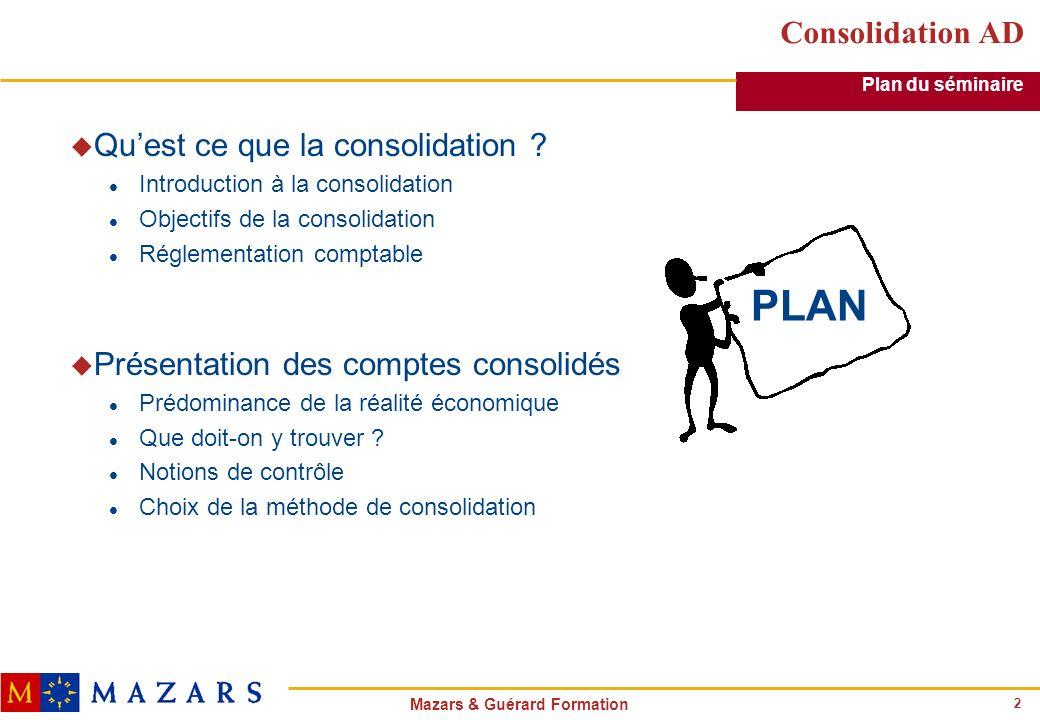 PLAN Consolidation AD Qu'est ce que la consolidation