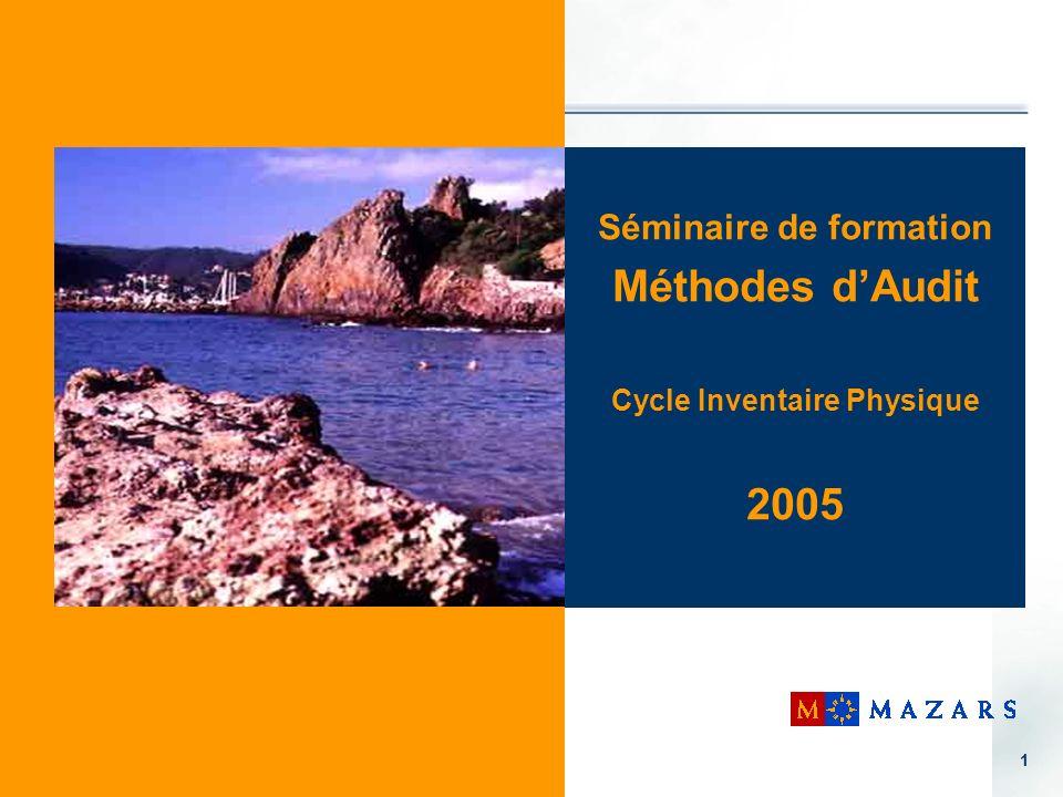 Séminaire de formation Cycle Inventaire Physique