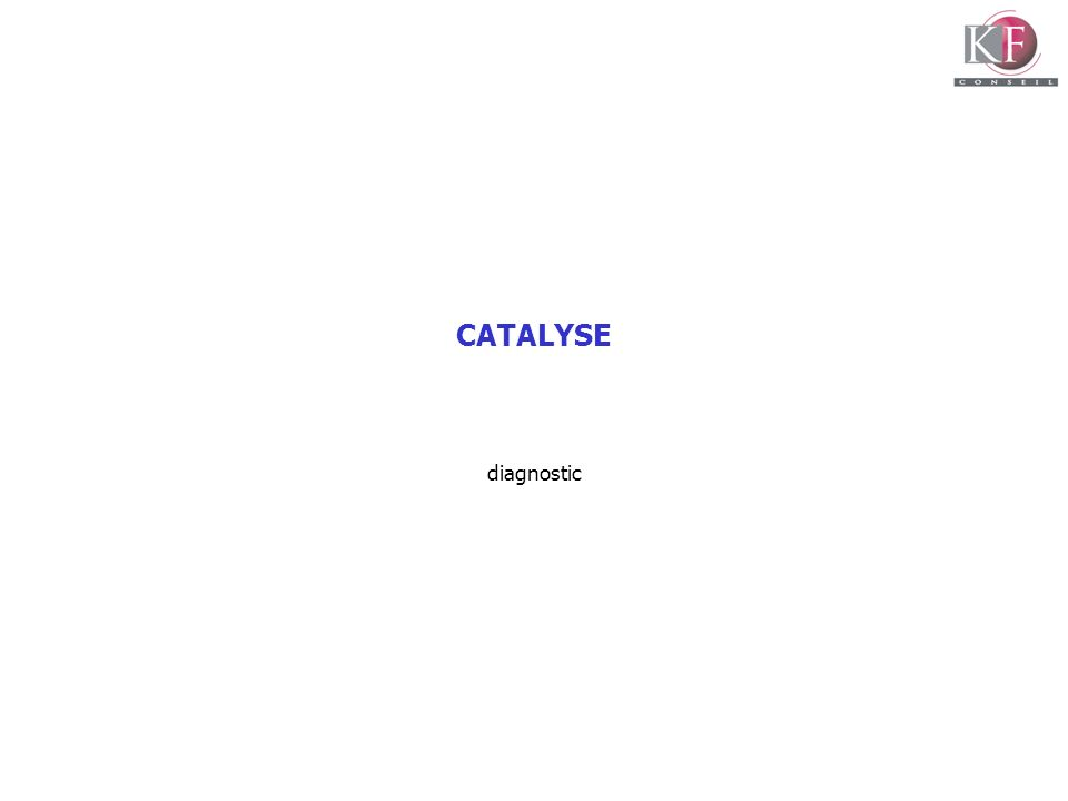 CATALYSE diagnostic