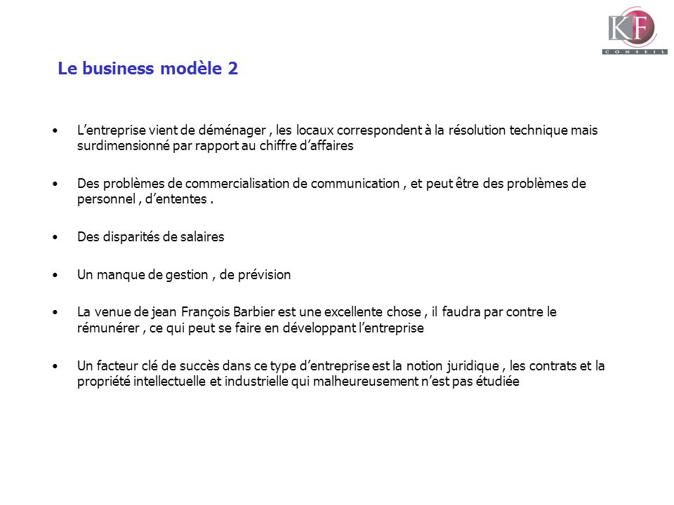 Le business modèle 2