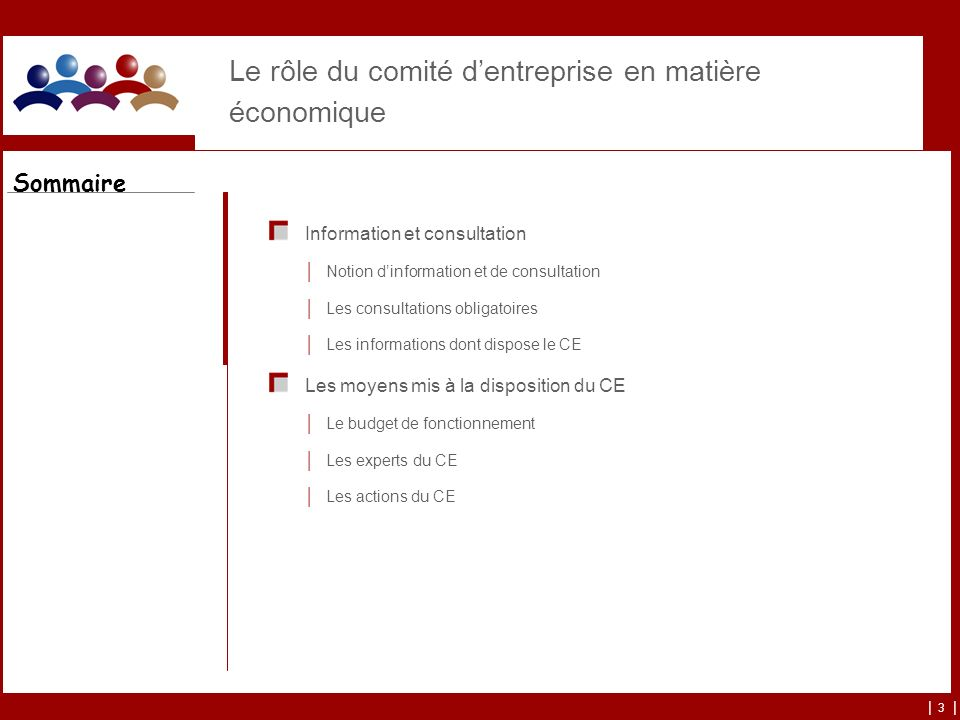 Le rôle du comité d'entreprise en matière économique