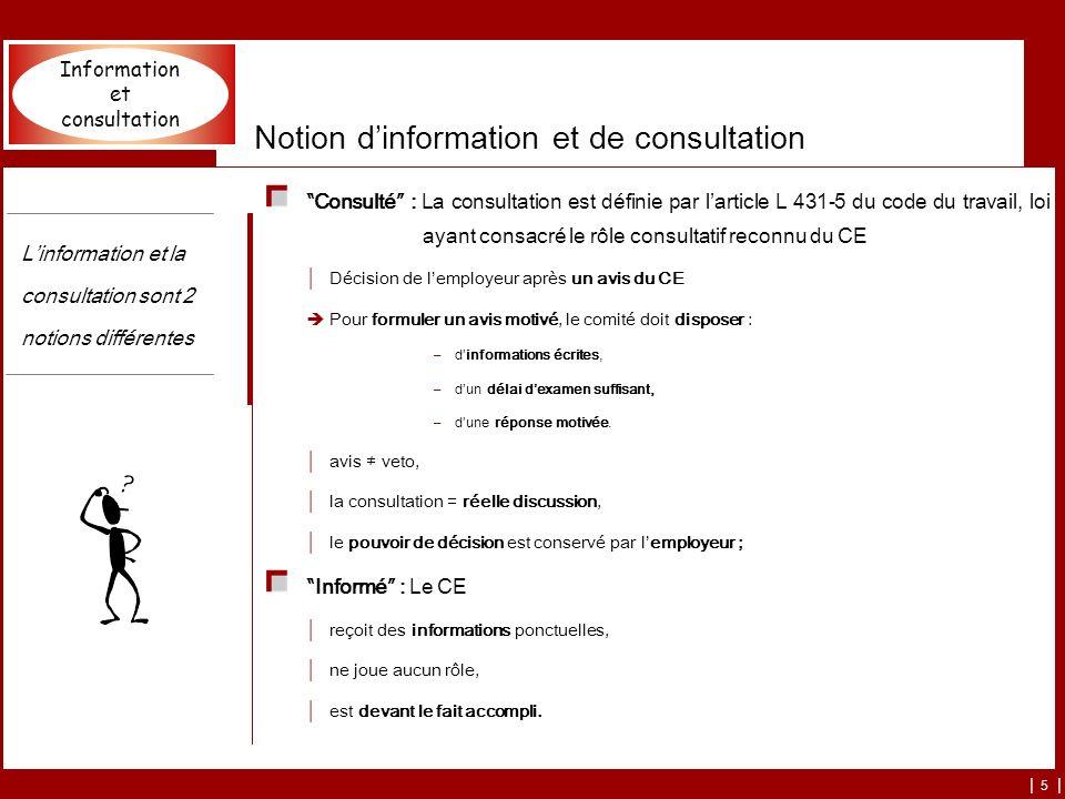 Notion d'information et de consultation