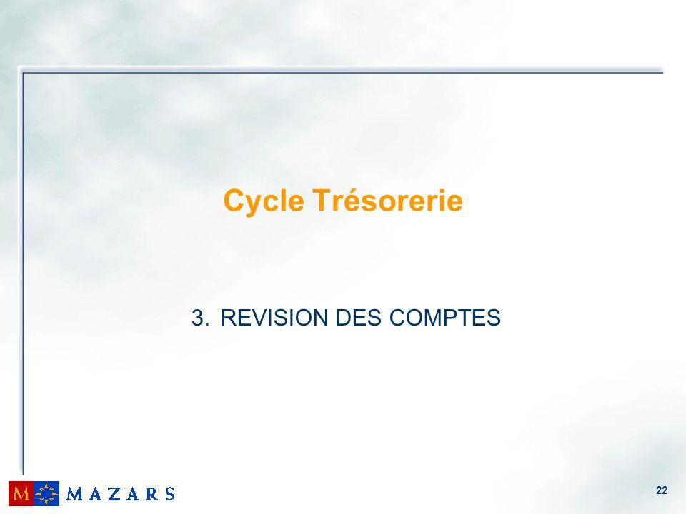 Cycle Trésorerie REVISION DES COMPTES