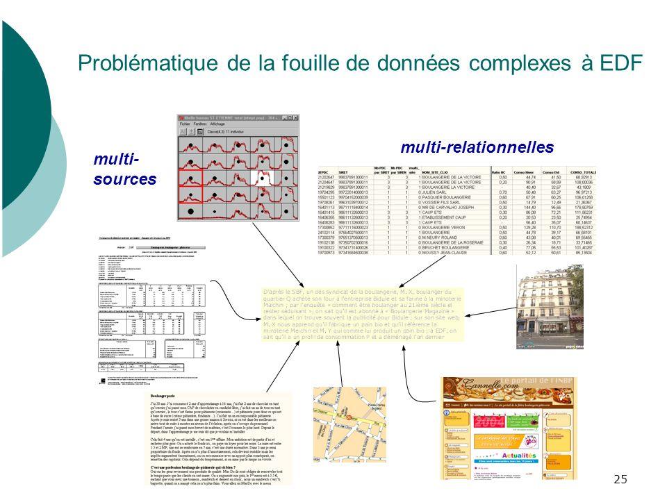 Problématique de la fouille de données complexes à EDF