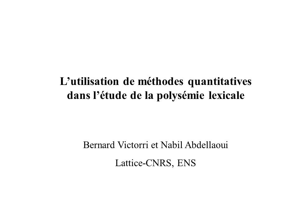 Bernard Victorri et Nabil Abdellaoui