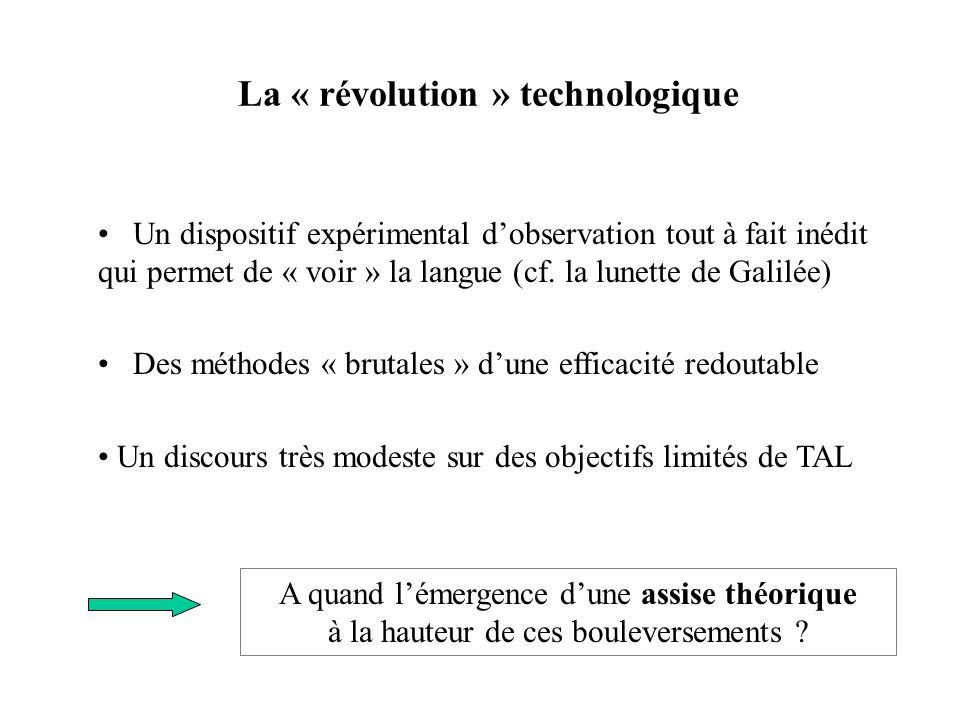 La « révolution » technologique