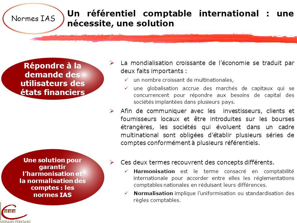 Un référentiel comptable international : une nécessite, une solution