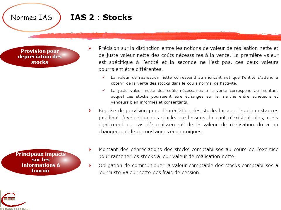 IAS 2 : Stocks Normes IAS.