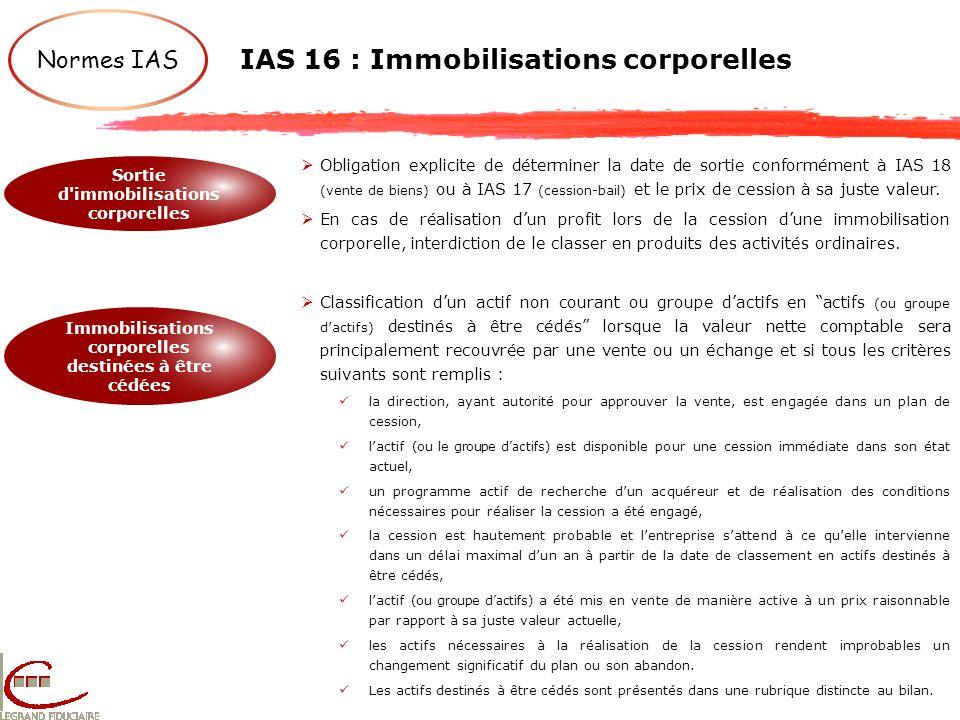IAS 16 : Immobilisations corporelles