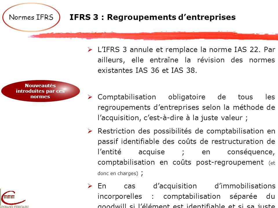 IFRS 3 : Regroupements d'entreprises