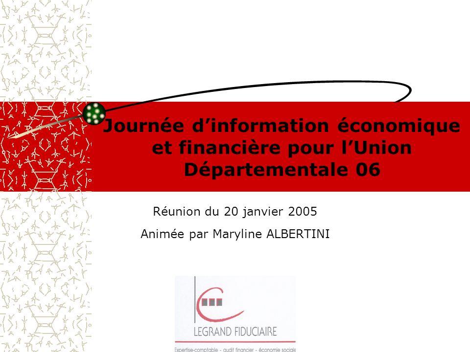 Réunion du 20 janvier 2005 Animée par Maryline ALBERTINI