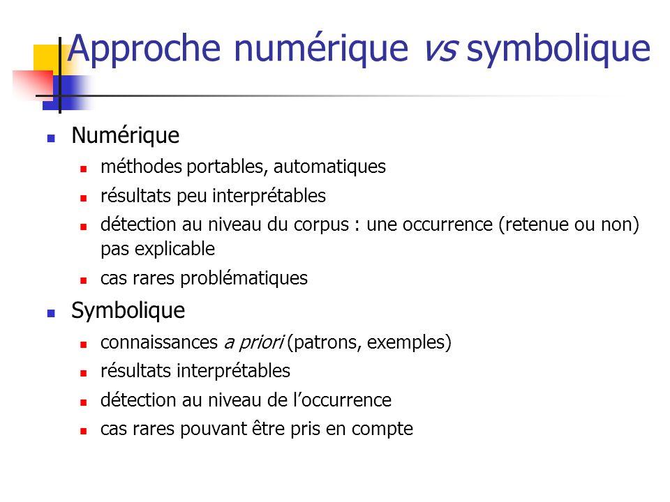 Approche numérique vs symbolique
