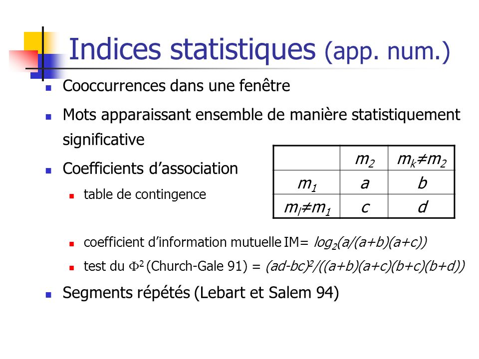 Indices statistiques (app. num.)