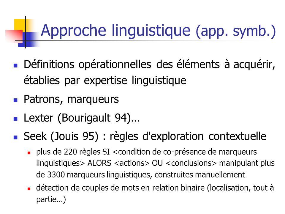 Approche linguistique (app. symb.)