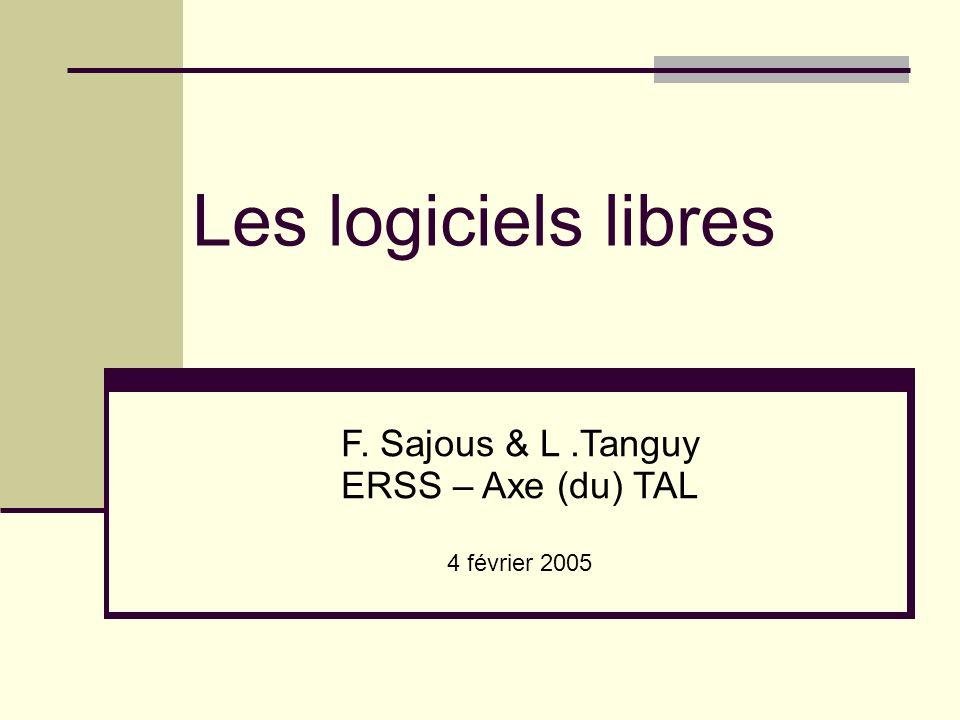 F. Sajous & L .Tanguy ERSS – Axe (du) TAL