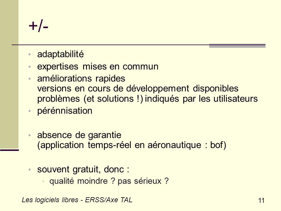 +/- adaptabilité expertises mises en commun