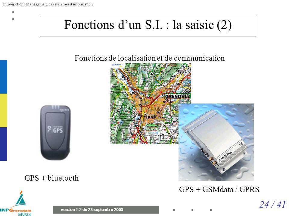 Fonctions d'un S.I. : la saisie (2)