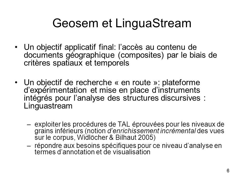 Geosem et LinguaStream
