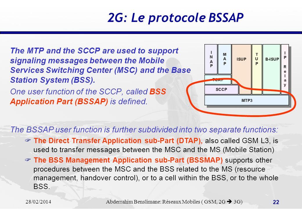 2G: Le protocole BSSAP