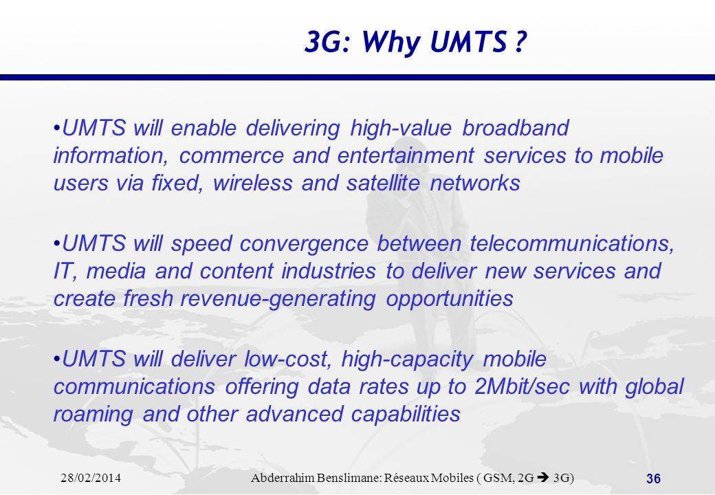 3G: Why UMTS