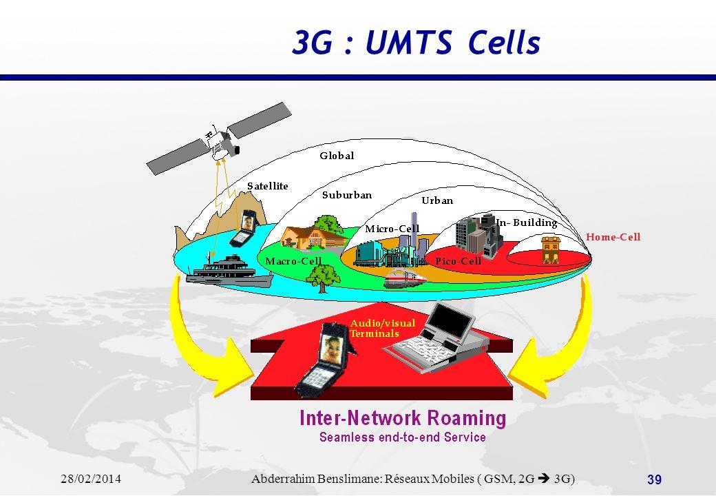 3G : UMTS Cells