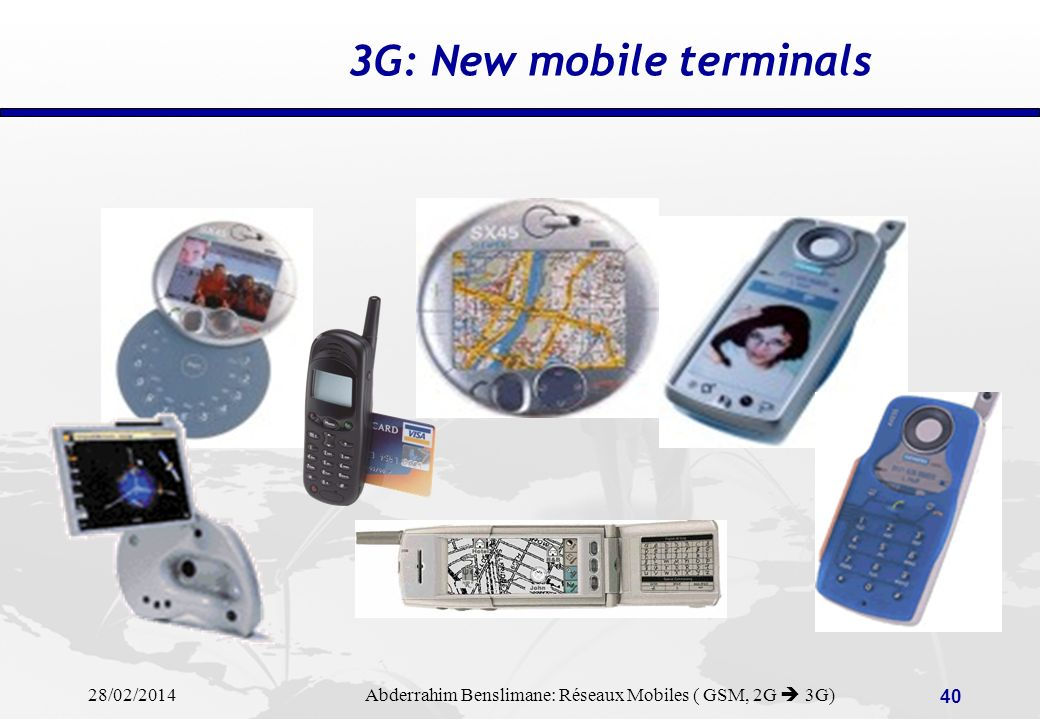 3G: New mobile terminals