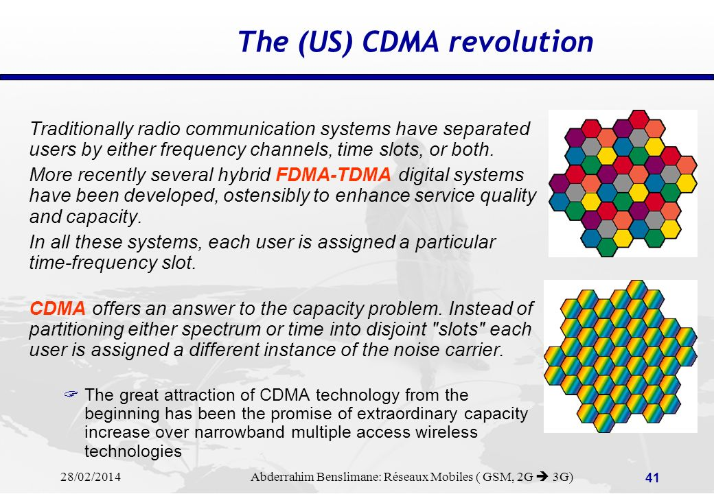 The (US) CDMA revolution