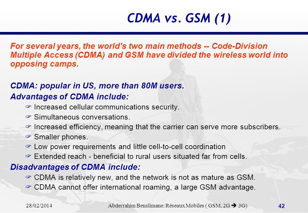 CDMA vs. GSM (1)