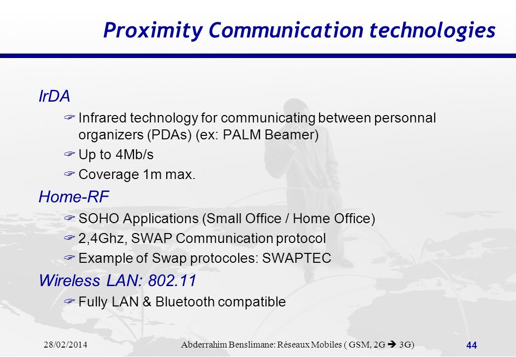Proximity Communication technologies