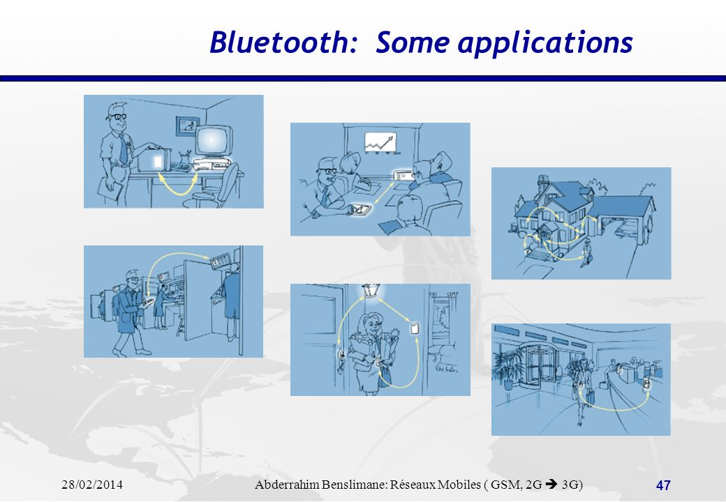 Bluetooth: Some applications
