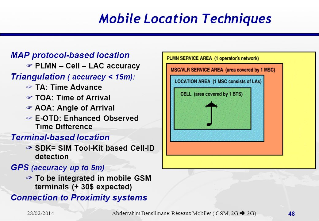 Mobile Location Techniques