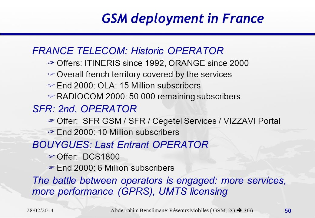 GSM deployment in France