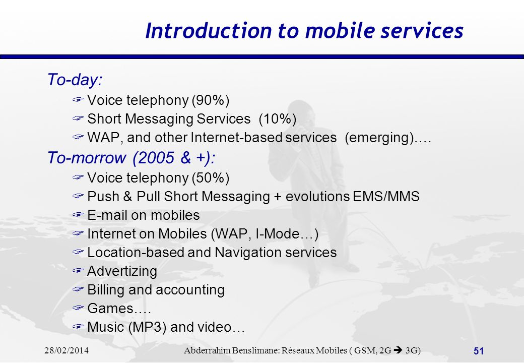 Introduction to mobile services