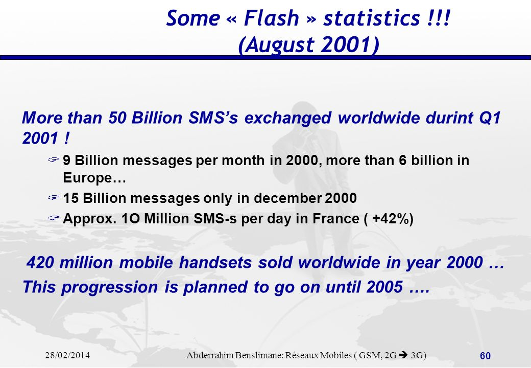 Some « Flash » statistics !!! (August 2001)