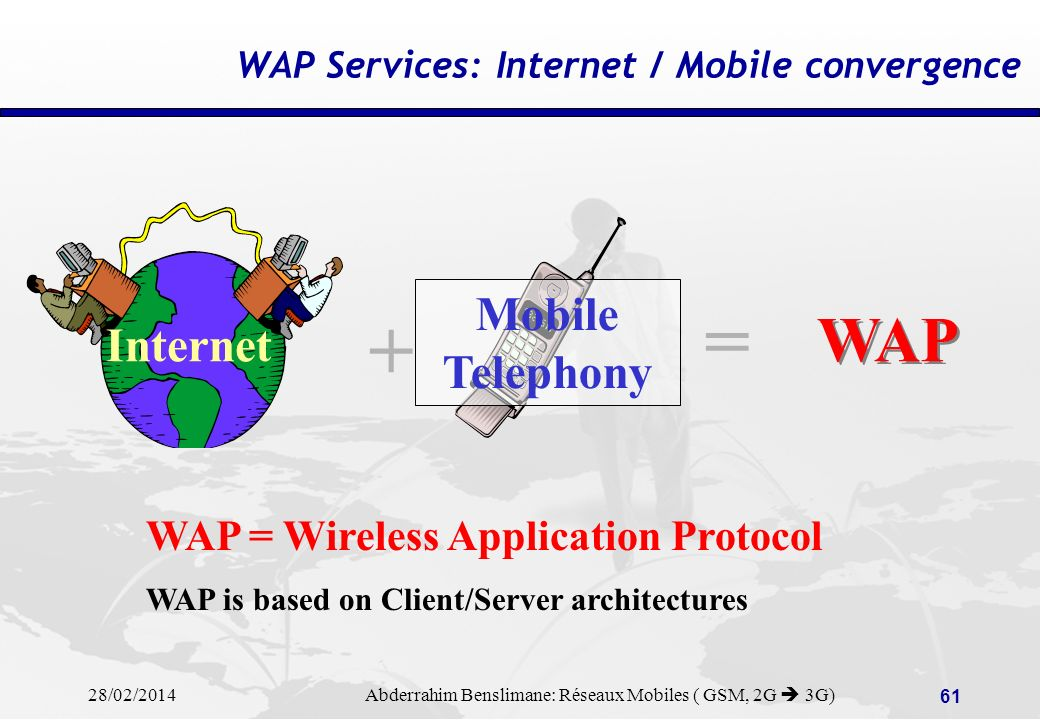 WAP Services: Internet / Mobile convergence