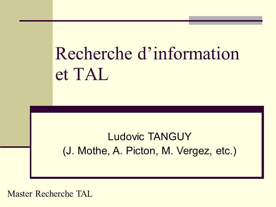 Recherche d'information et TAL