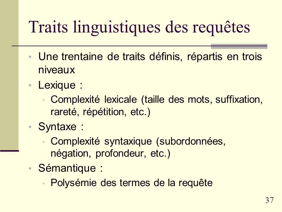 Traits linguistiques des requêtes