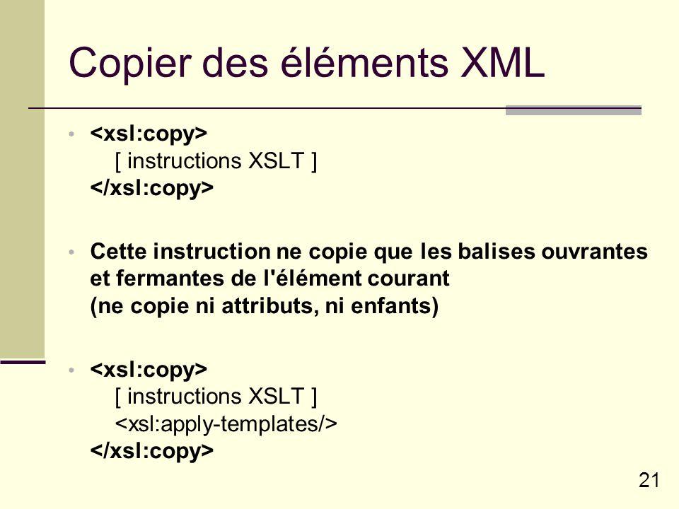 Copier des éléments XML