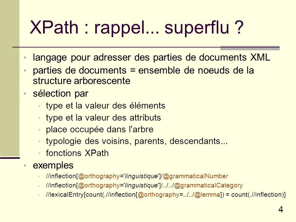 XPath : rappel... superflu