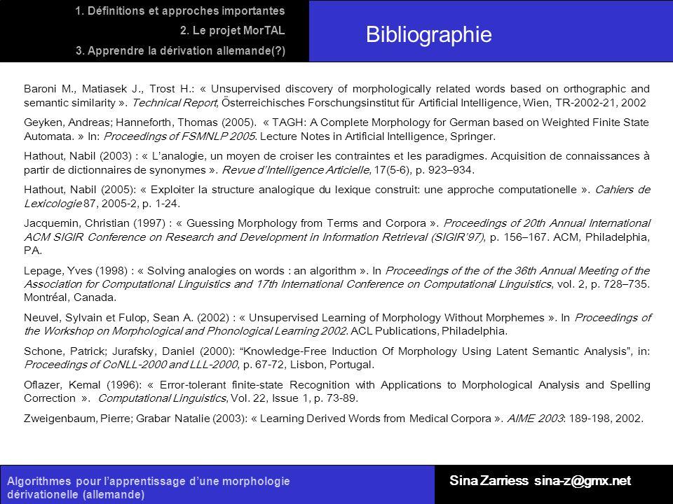 Bibliographie Sina Zarriess sina-z@gmx.net