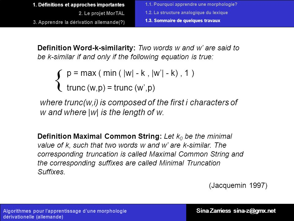 { p = max ( min ( |w| - k , |w'| - k) , 1 ) trunc (w,p) = trunc (w',p)